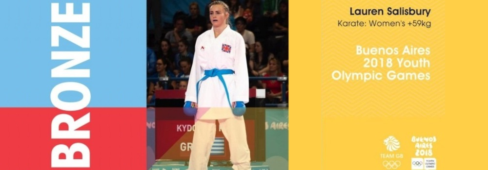 Lauren Salisbury - British Karate's first Youth Olympic Medalist